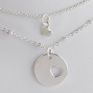 Jewelry - SALE - New 2pc  Mother & Child Heart Necklaces